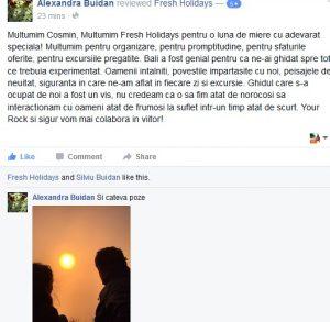 print screen testimonial Silviu Buidan